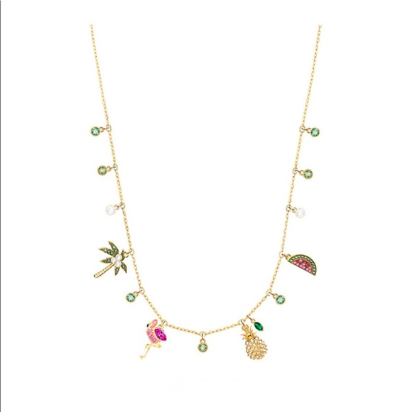 Swarovski Lime Charm Tropical Necklace 60e2f03775